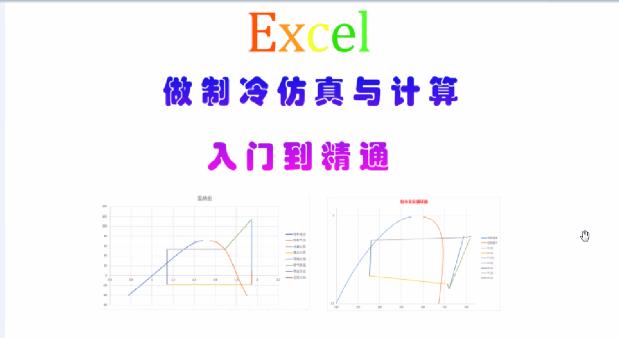 【全套】Excel做制冷仿真计算入门到提高
