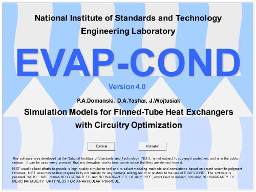 EVAP-COND软件全套资料(中文说明书、案例